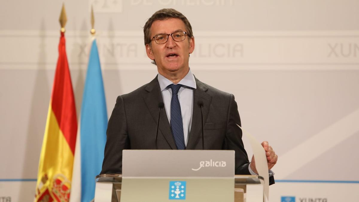 Alberto Núñez Feijóo comparece tras el Consello