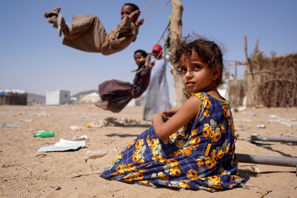 Campamento de refugiados en Yemen.