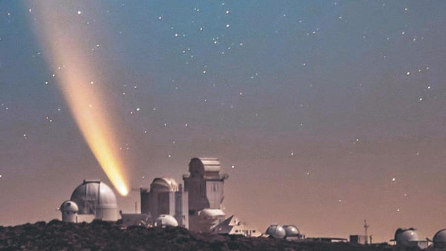 El cometa Neowise ya se deja ver por Canarias