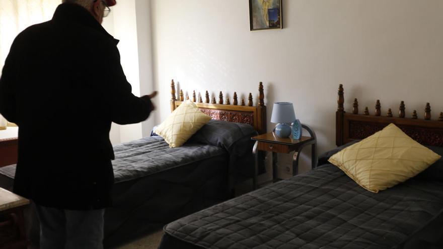 Una de las habitaciones del albergue