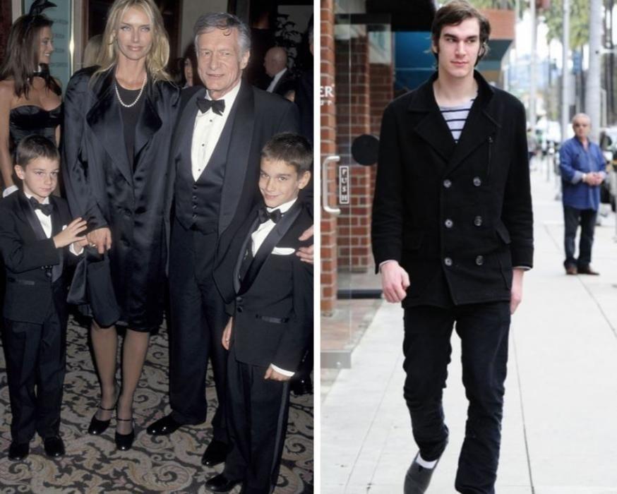 Uno de los cuatro hijos del playboy Hugh Hefner.