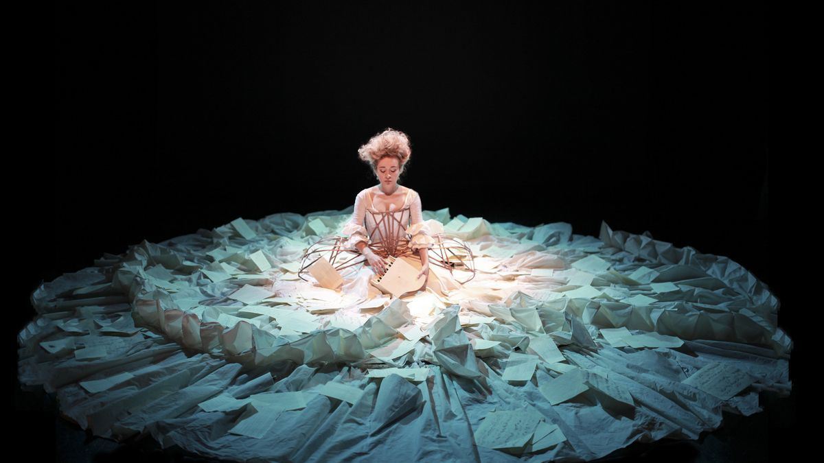 Sylvia Milo als Nannerl in der Orginalversion des Stücks