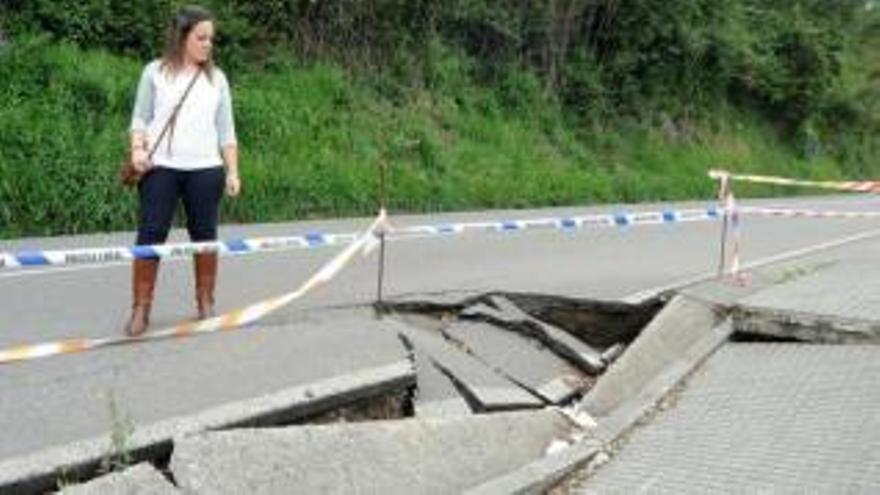 Foro exige la reparación urgente de un argayo en la carretera que une Colunga y Lastres