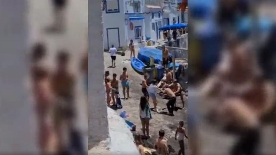 Graban una pelea en una playa de Gran Canaria.