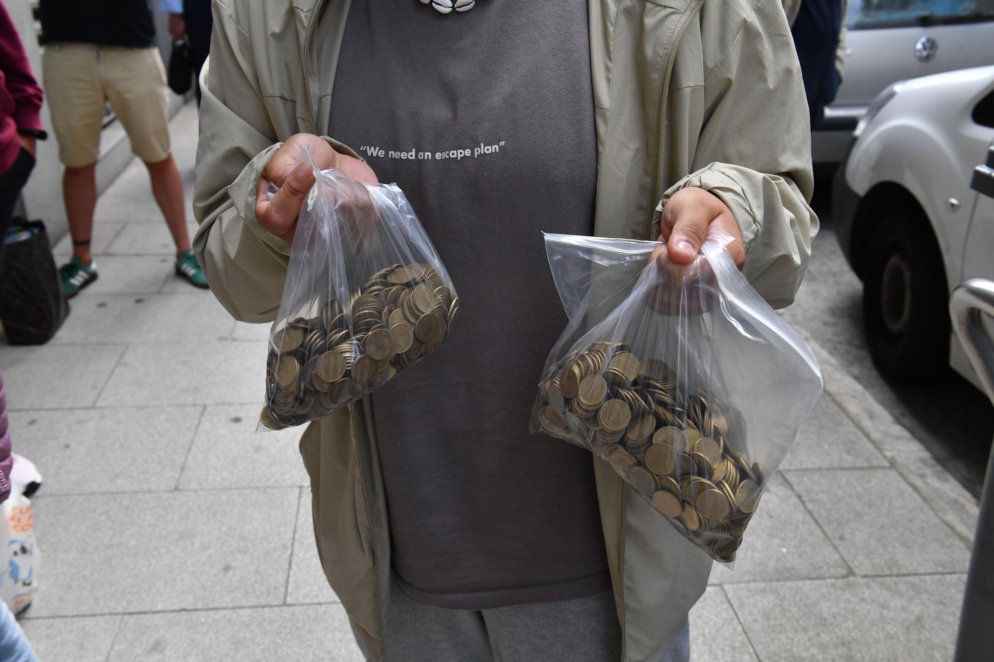 El Banco de España de A Coruña recoge las últimas pesetas