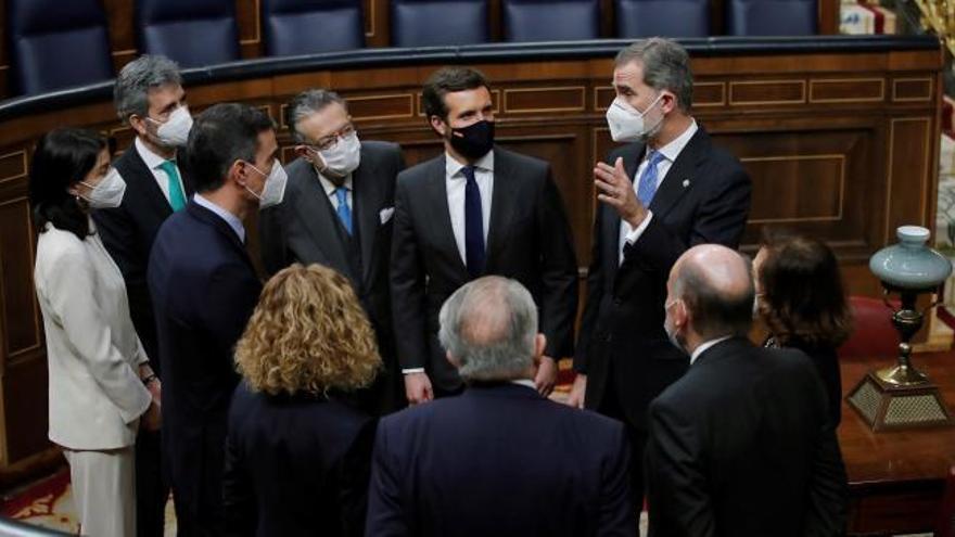 """El Rey elogia el papel de Juan Carlos I en el 23F: """"Su firmeza y autoridad fueron determinantes en la defensa de la democracia"""""""