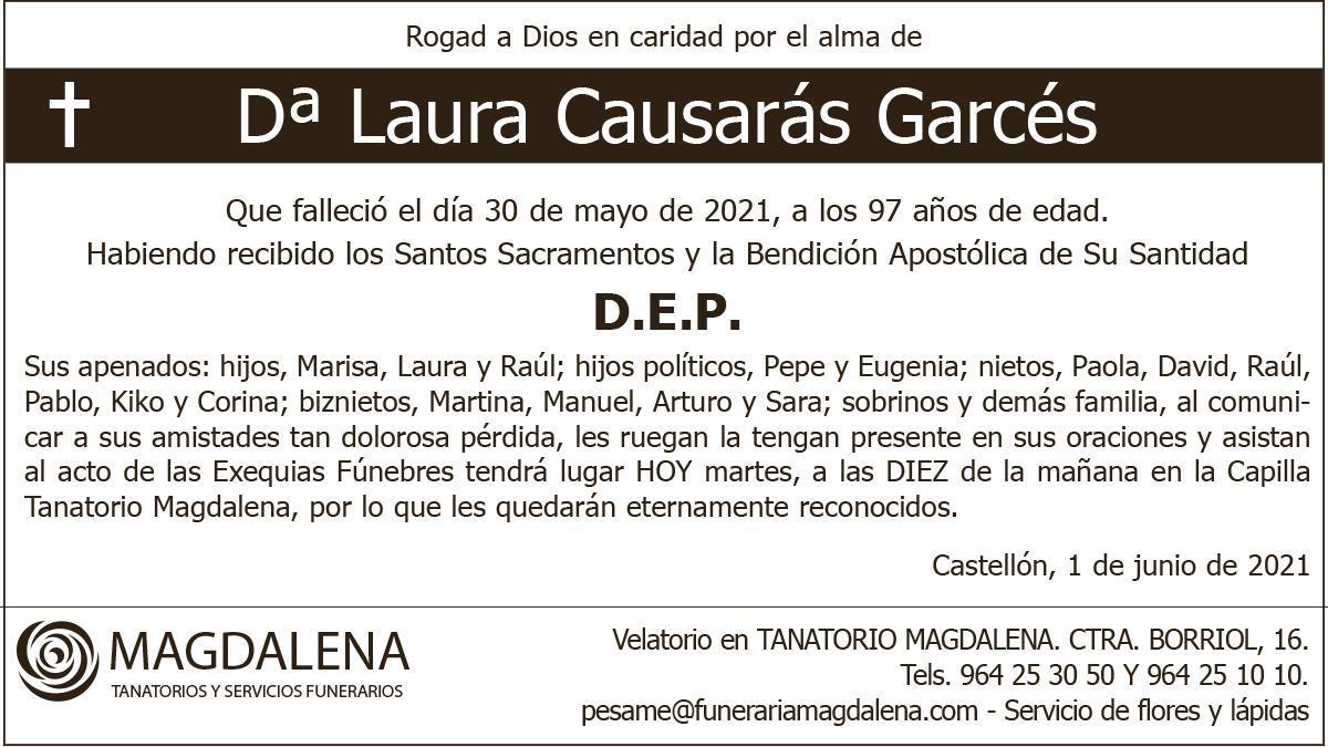 Dª Laura Causarás Garcés