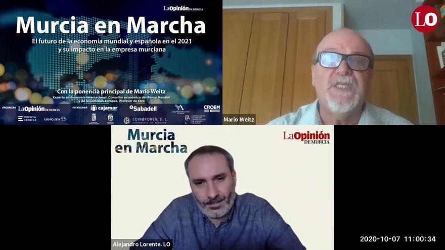 Región de Murcia en Marcha: Los titulares del webinar con Mario Weitz