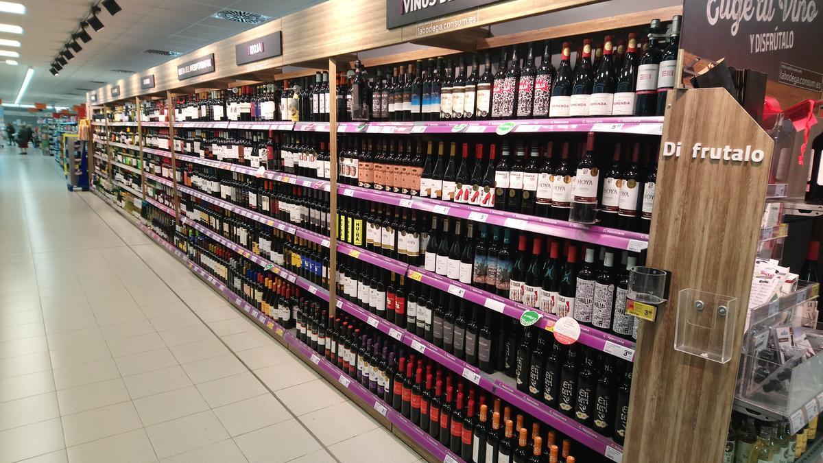 Los vinos valencianos que actualmente están disponibles en la mayoría de supermercados de la Comunitat Valenciana.