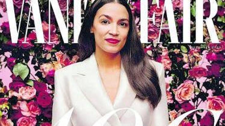 """Alexandria Ocasio-Cortez, en la portada de """"Vanity Fair""""."""