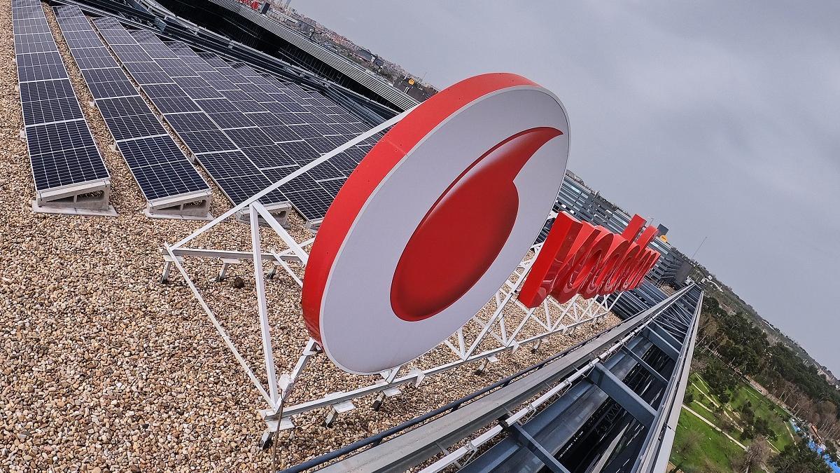 Imagen de la sede de Vodafone España, en Madrid.