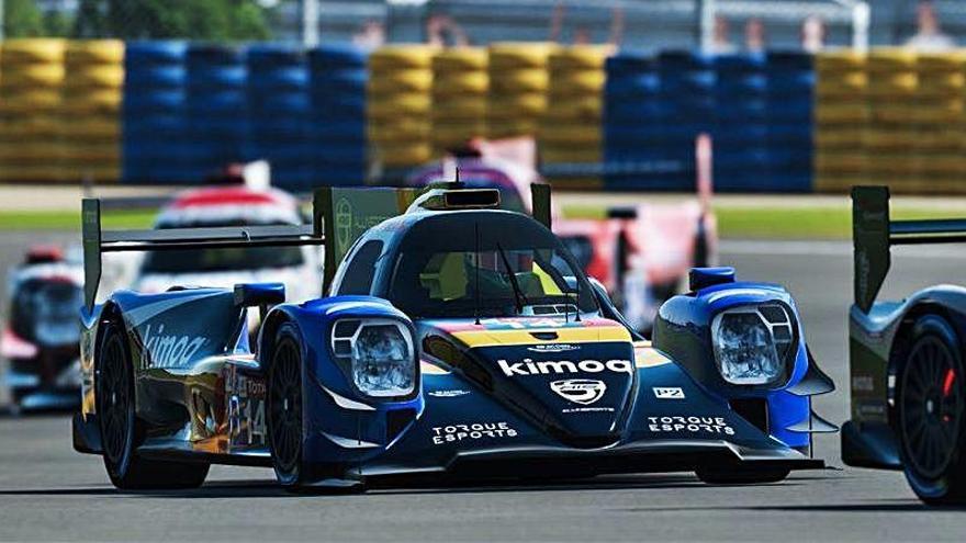 Infierno de Alonso en las 24 Horas de Le Mans virtuales, acaba 17º
