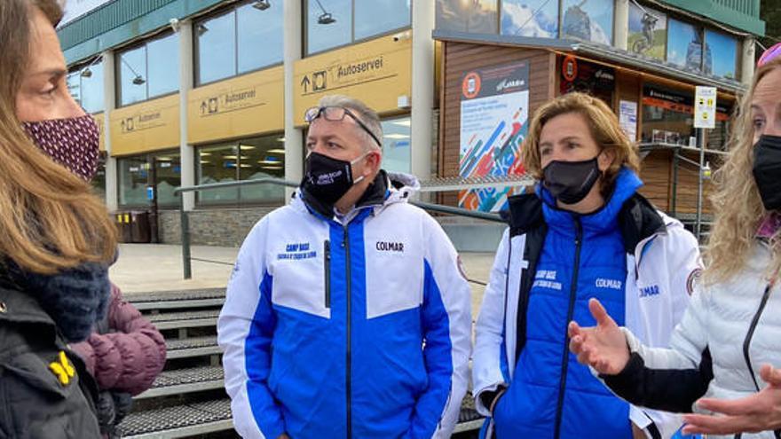 Budó es compromet a valorar mesures per pal·liar els efectes que pateixen les estacions d'esquí privades