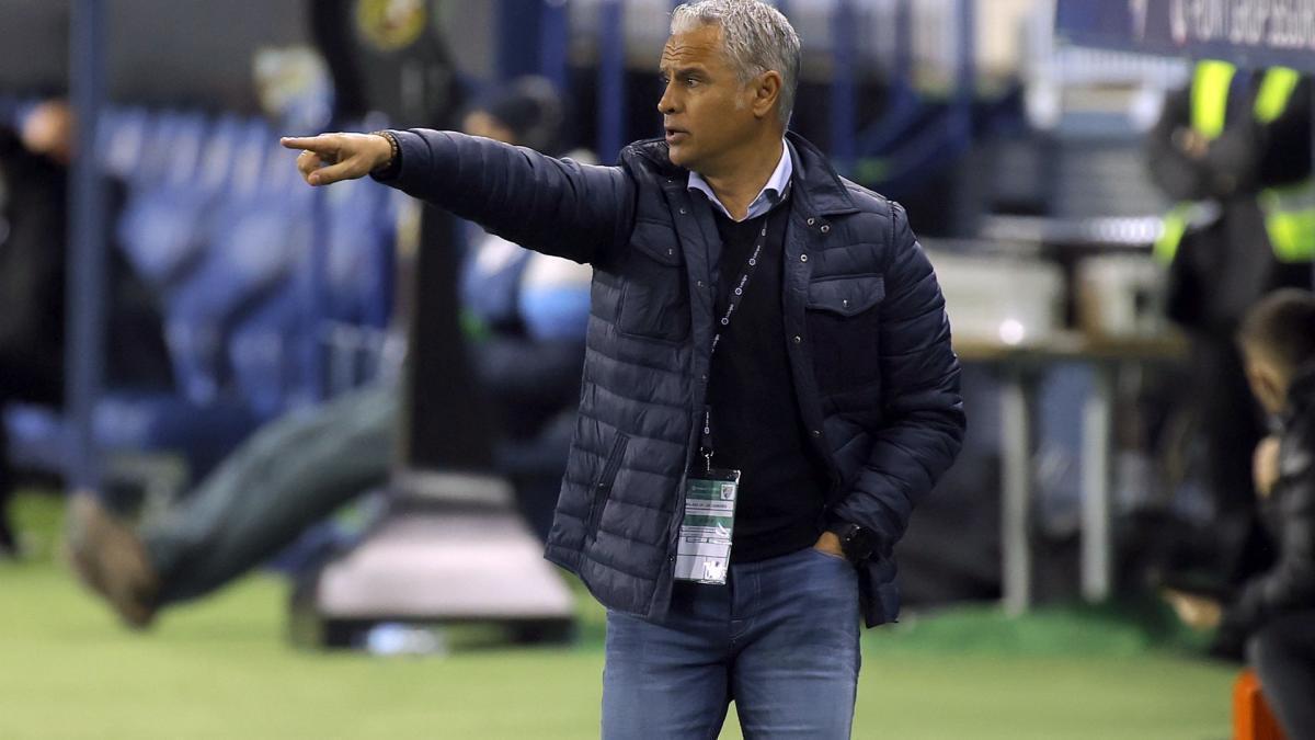 El entrenador del Málaga Sergio Pellicer.
