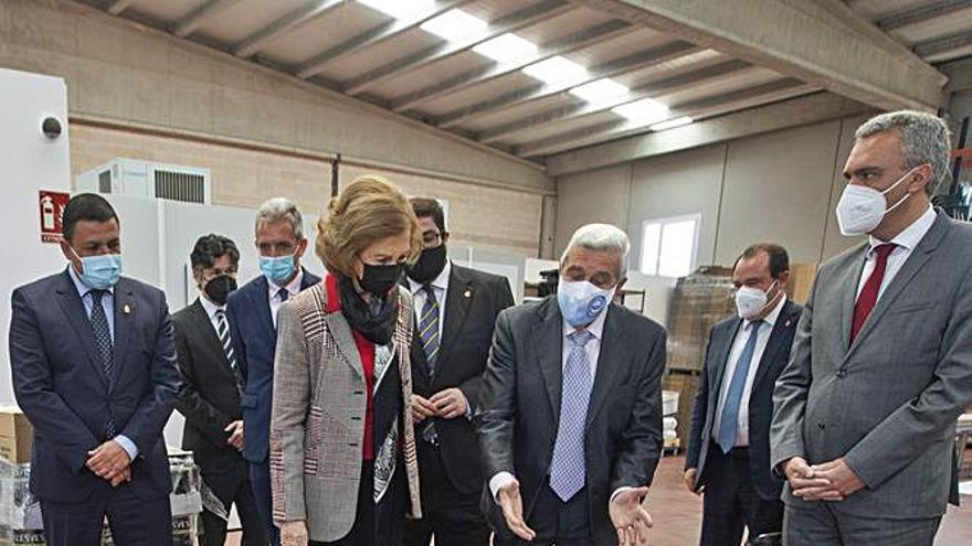 La reina Sofía, visita solidaria en Ávila