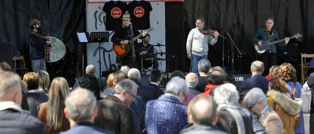 Una de las actividades organizadas para protestar por el litigio planteado para dirimir la gestión del Conservatorio.