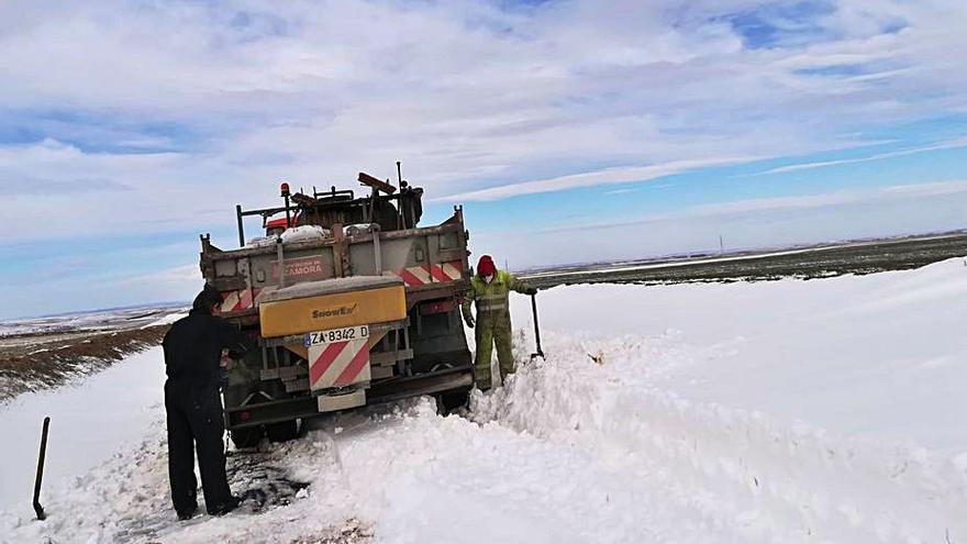 Temporal Filomena en Zamora: Los pequeños pueblos, entoñados en la nieve