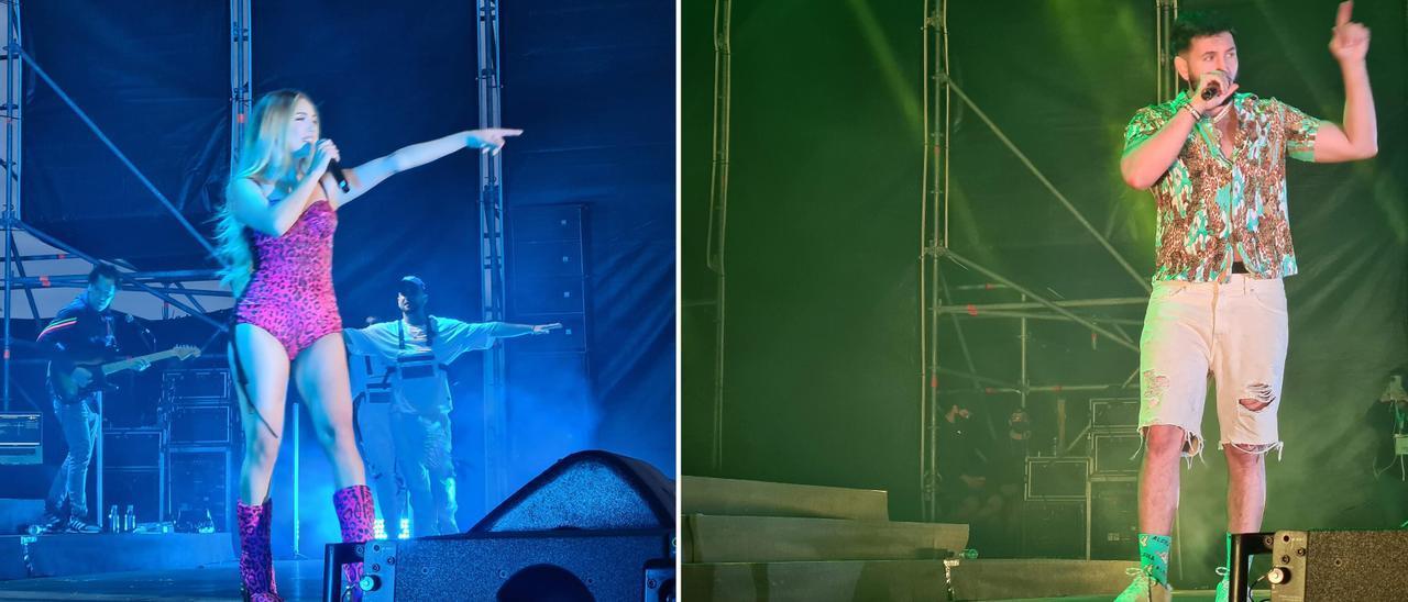 """Ana Mena y Omar Montes actuaron el domingo en """"Os Sons do Mar""""."""
