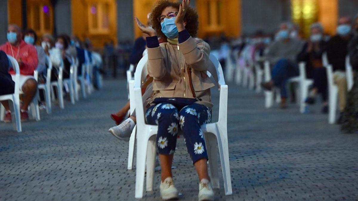 Un momento de los conciertos de las fiestas de A Coruña, el área con más casos