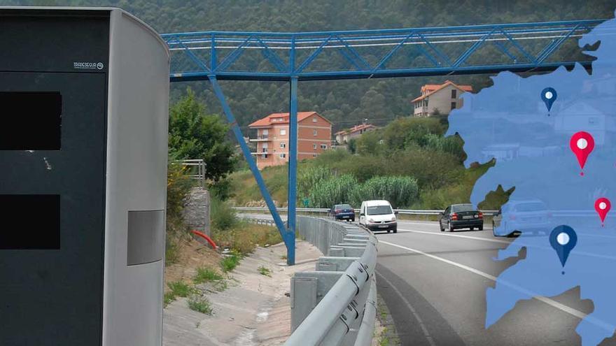 Radares en Galicia: el mapa definitivo de los fijos y móviles en 2021