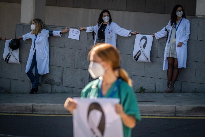 Huelga de médicos en el Hospital Nuestra Señora de La Candelaria