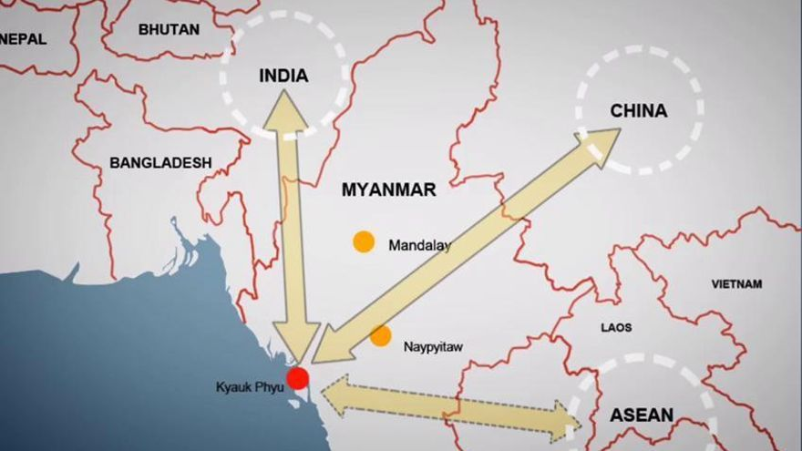 China proyecta un megapuerto en Myanmar para captar tráficos  europeos