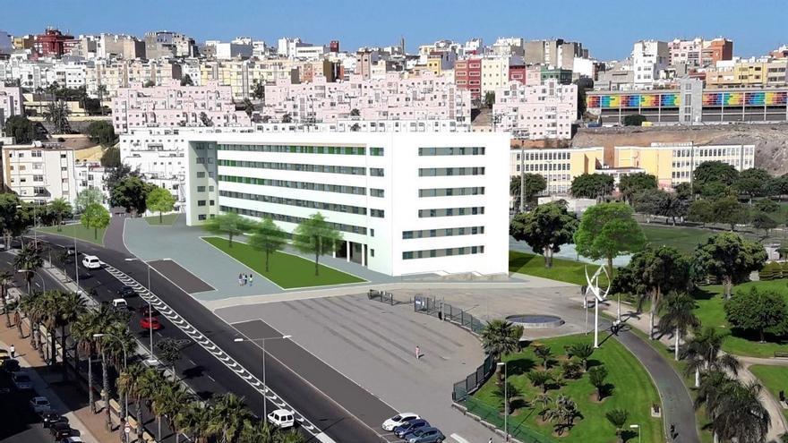 Maqueta virtual del edificio Parque Rehoyas II