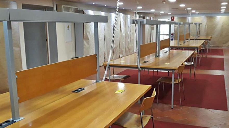 El uso de las salas de estudio de la biblioteca requiere cita previa