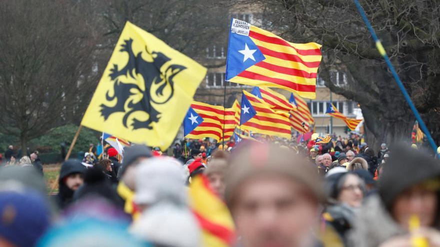 Manifestación independentista en Bruselas