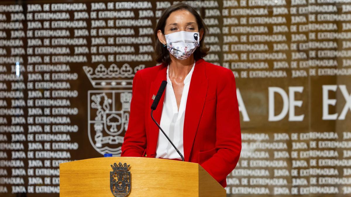 Reyes Maroto, ministra de Industria, Comercio y Turismo, en una intervención reciente