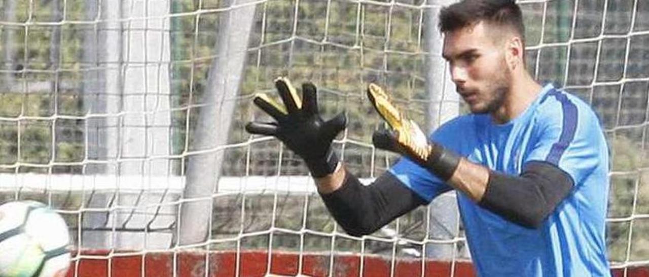 Dani Martín, en un entrenamiento.