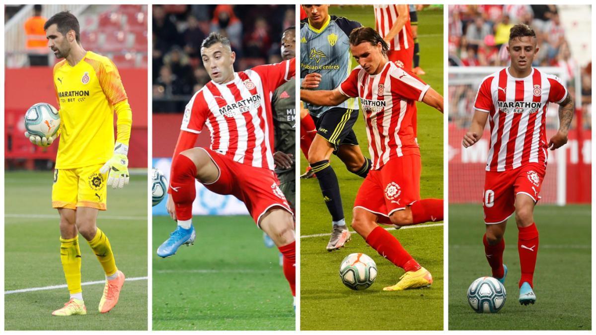 El Girona ha perdut quatre titulars indiscutibles de  la temporada passada
