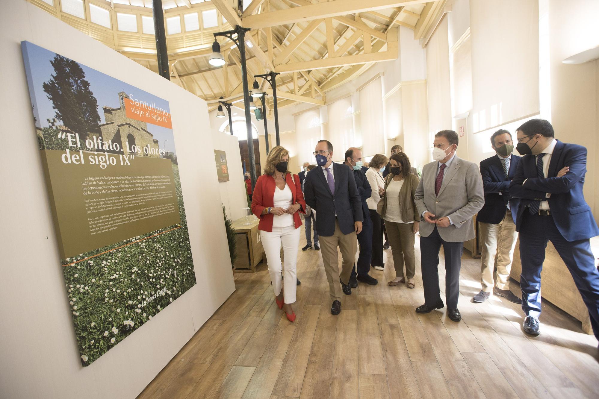 """Trascorrales abre una ventana al pasado: inauguración de la muestra """"Santullano, viaje al siglo IX"""""""