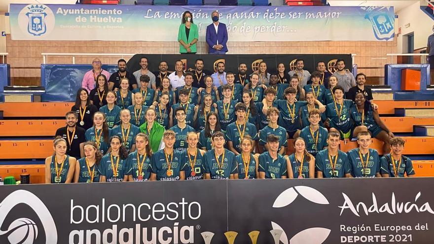 El baloncesto malagueño se carga de oro y plata en Huelva