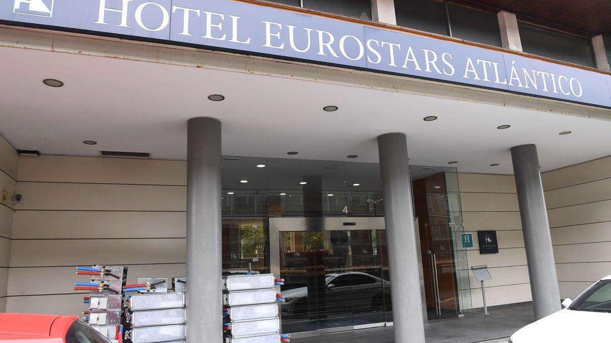 El hotel Atlántico, durante su cierre en marzo de 2020.