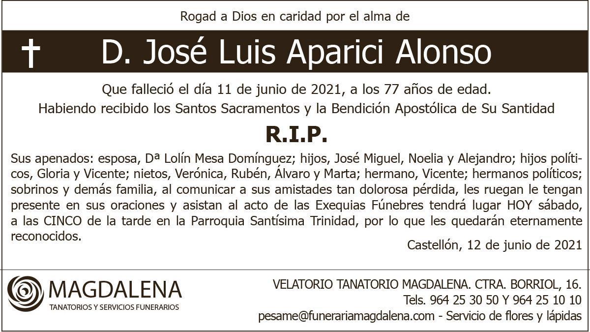 D. José Luis Aparici Alonso