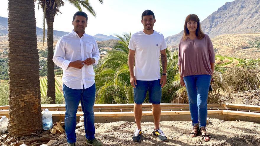 David Silva presenta su proyecto vinícola de la Caldera  de Tirajana