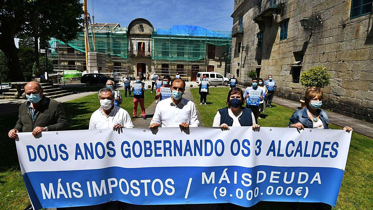 El PP de Poio critica los dos años de mandato del tripartito   GUSTAVO SANTOS
