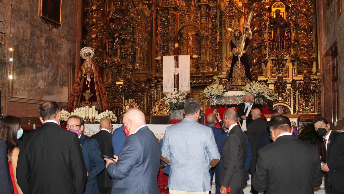 La imagen de Jesús Nazareno de Baena no ha podido salir en procesión.