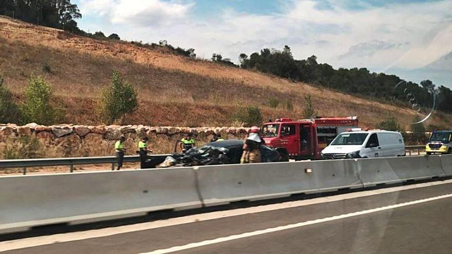 Mor un conductor a Vilademuls que circulava en direcció contrària