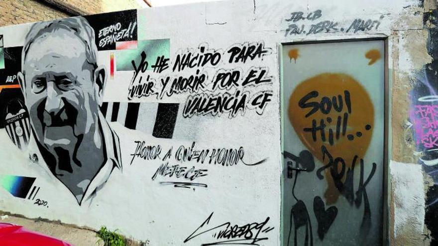 Espanyeta sigue vivo en los murales de la ciudad