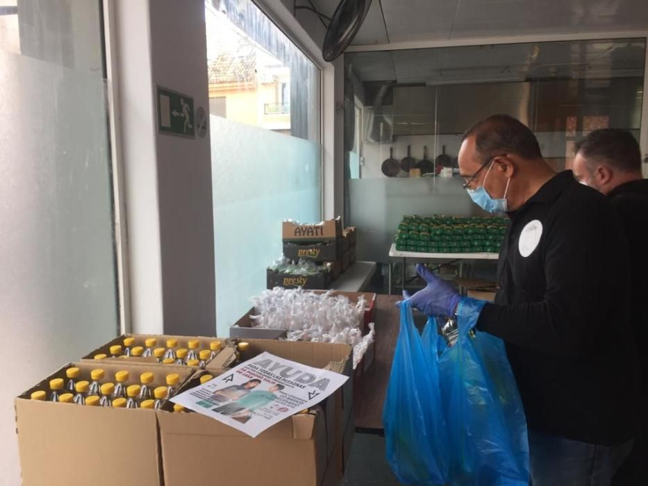 Coronavirus amb Cor reparte lotes de paella a 180 familias de Alaquàs