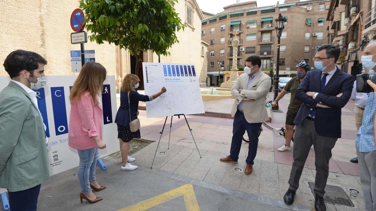 Presentación de las nuevas zonas peatonales