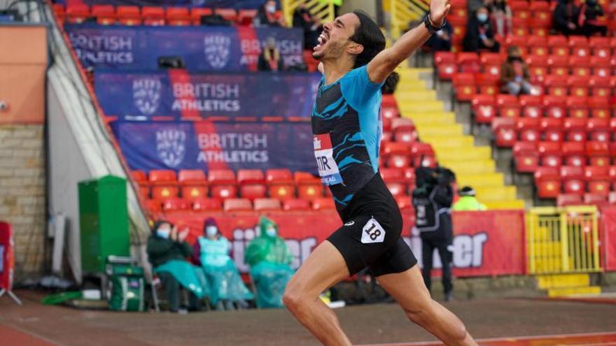 Mohamed Katir pulveriza el récord de España de 5.000 metros