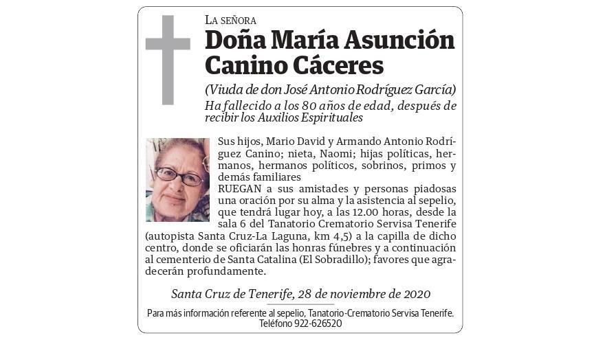 María Asunción Canino Cáceres