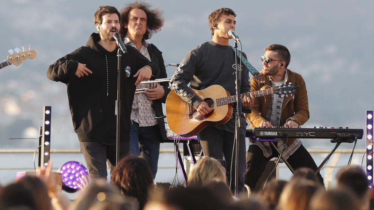 El grupo Taburete, en uno de sus últimos conciertos en Galicia