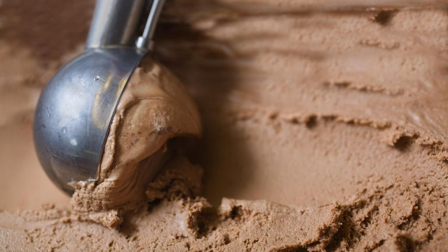 Helado de chocolate light, paso a paso
