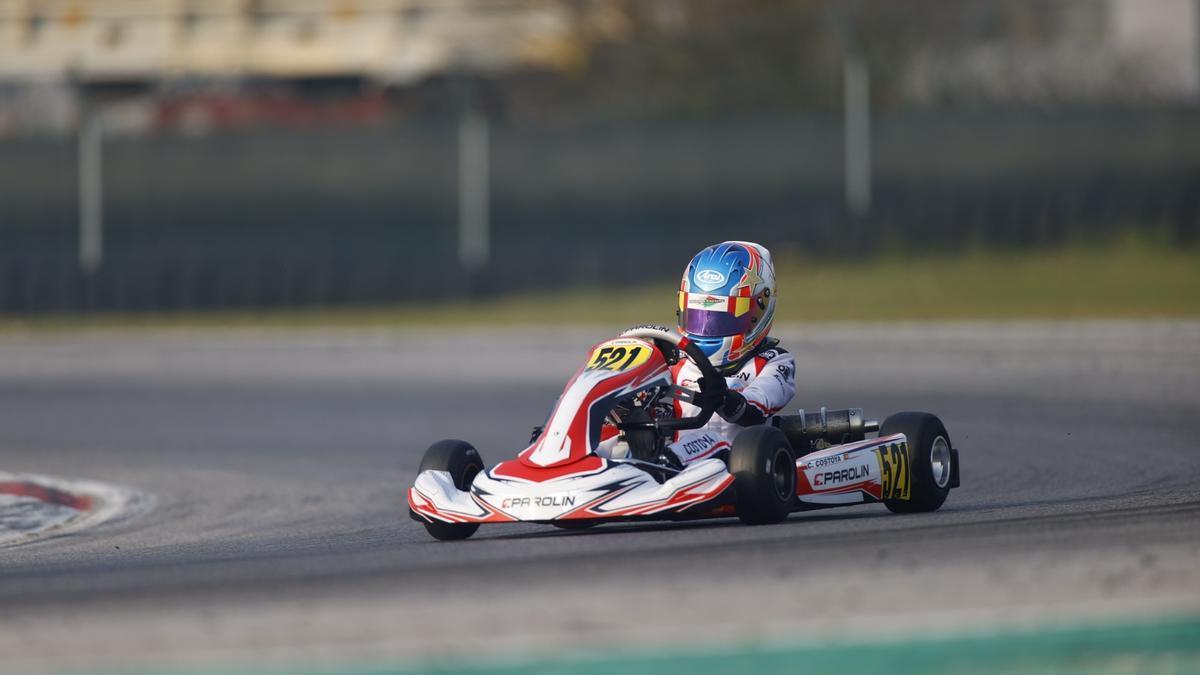 Christian Costoya pilota su Parolin esta tarde en el circuito de Adria.