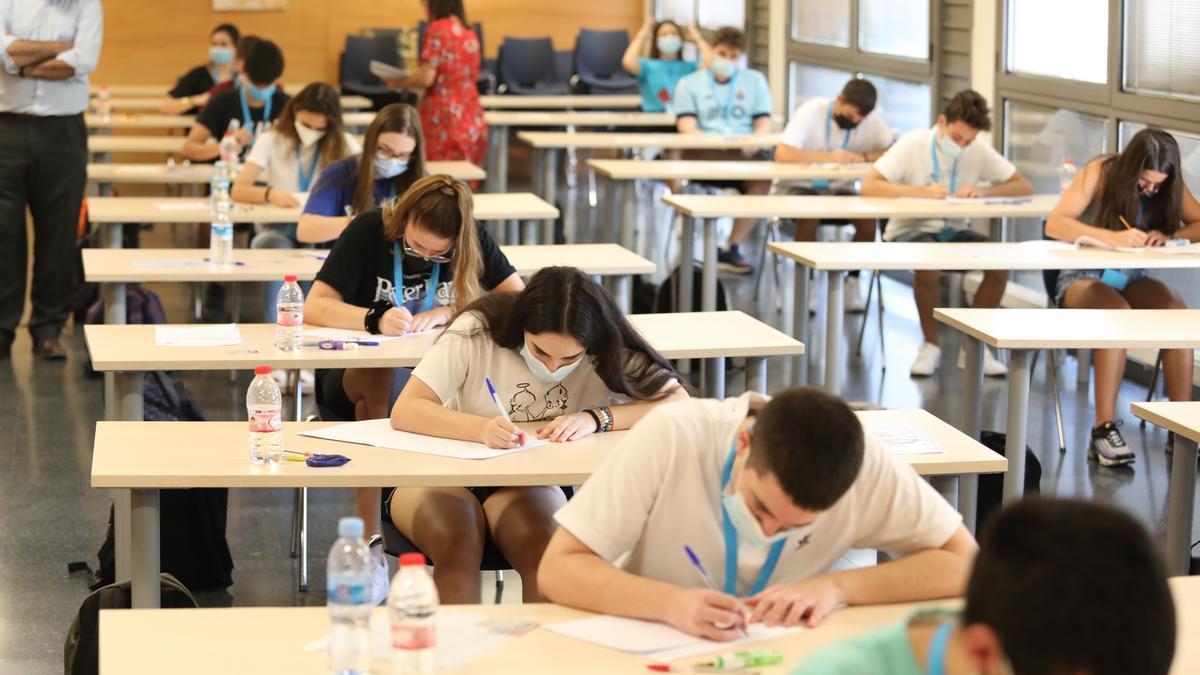 Imagen de un aula universitaria durante el curso 2020/2021