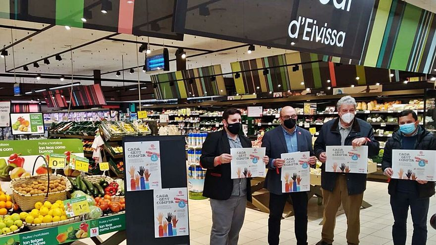 Eroski presenta la campaña 'Cada gest compta' a beneficio de Cáritas Ibiza